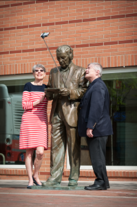 Mayor Goreham and President Barron