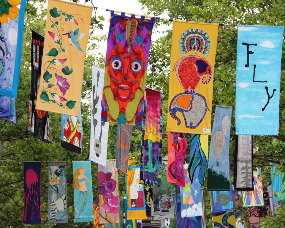 Banners Add Zest to the Festival
