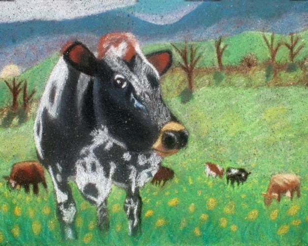 California Cow: Italian Street Painting Festival