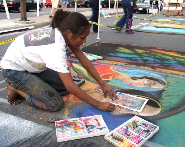 Artist at Work: Italian Street Painting Festival
