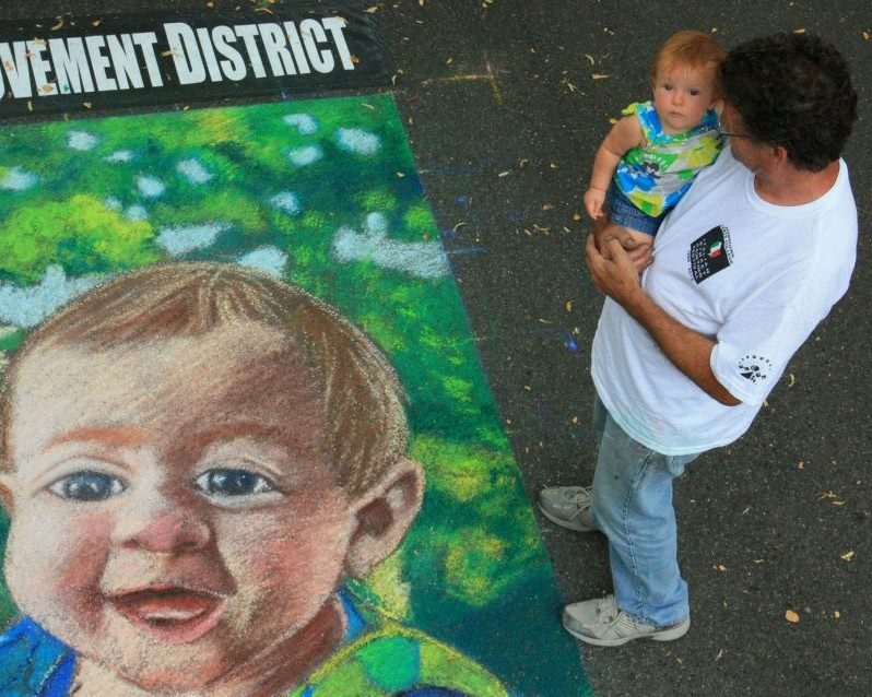 Portait of a Toddler: Italian Street Painting Festival