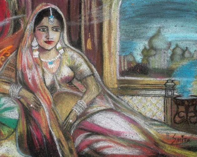 Woman in a Sari: Italian Street Painting Festival