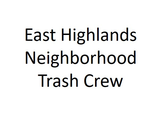 East Highlands Neighborhood Trash Crew logo