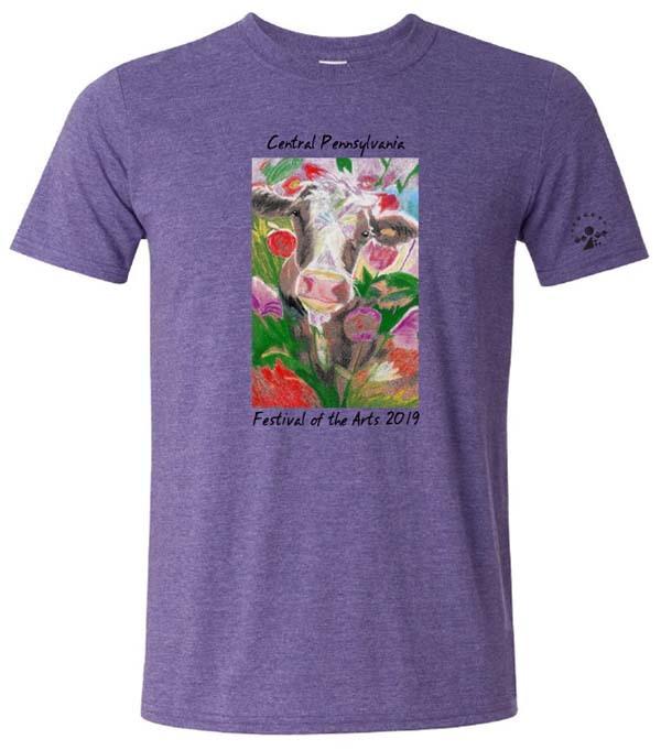 2019 Festival cow tshirt purple