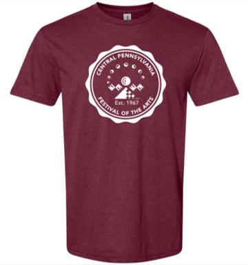 Unisex CPFA Logo Tshirt Maroon