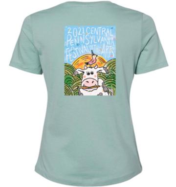 Womens 2021 Festival Cow Tshirt